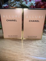 X2 Chanel Allure Eau De Toilette Spray Vial Each Contains 1.5ml New & Carded - $19.79