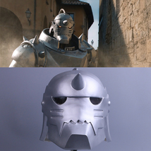 Fullmetal Alchemist Alphonse Elric Cosplay PVC Helmet Mask Handmade - $55.99+