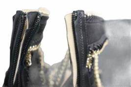 NEW Giuseppe Zanotti Black Leather Gold Cuff Cage Gladiator Sandal 38.5 Italy image 7