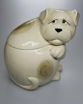 Vintage 1980's Fitz And Floyd Ceramic Sad Dog Cookie Jar - $99.99