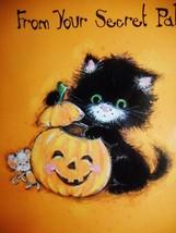 Vintage Halloween Secret Pal Kitten Greeting Card, Mint, NOS, w/White En... - €5,25 EUR