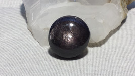 Natural Sapphire Oval Cabochon Black & Purple With Asterism And Unique M... - $516.00