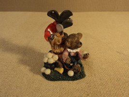 K's Collection Golf Bear Figurine 2 1/2in L x 3in W x 4in H Resin - $10.35
