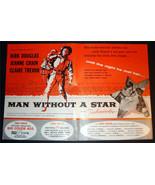 SUPER RARE 1955 MAN WITHOUT A STAR PROMO MOVIE AD KIRK DOUGLAS JEANNE CRAIN - $19.26