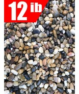 12 Pounds River Rock Stones, Natural Decorative Polished Mixed Pebbles G... - $67.99+
