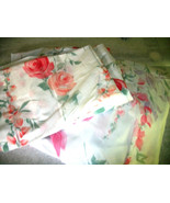 Vintage Pierre Cardin Twin 3pc Flat+ Fitted Sheets +pillowcase PINk RE... - $18.80