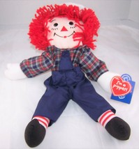 Raggedy Andy Hand Puppet Applause Hasbro 16896 Doll NWT Embroidered Face... - $8.99