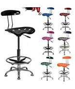 Home Drafting Stool Chair Adjustable Tractor Bar Modern Seat TkPrime (Br... - $178.20