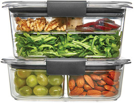 Rubbermaid Brilliance Food Storage Container, Salad and Snack Lunch Comb... - $46.82