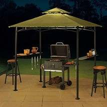 BBQ Grill Charcoal Barbecue Outdoor Pit Patio 8' x 5' Sylvan Gazebo Gree... - $188.09
