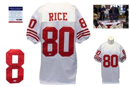 Jerry Rice Autographed SIGNED Jersey - PSA/DNA Authentic - White - $197.99