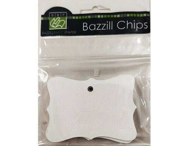 Bazzill Basics Chips, Fancy Square Chipboard Tags, Set of 3 #302890
