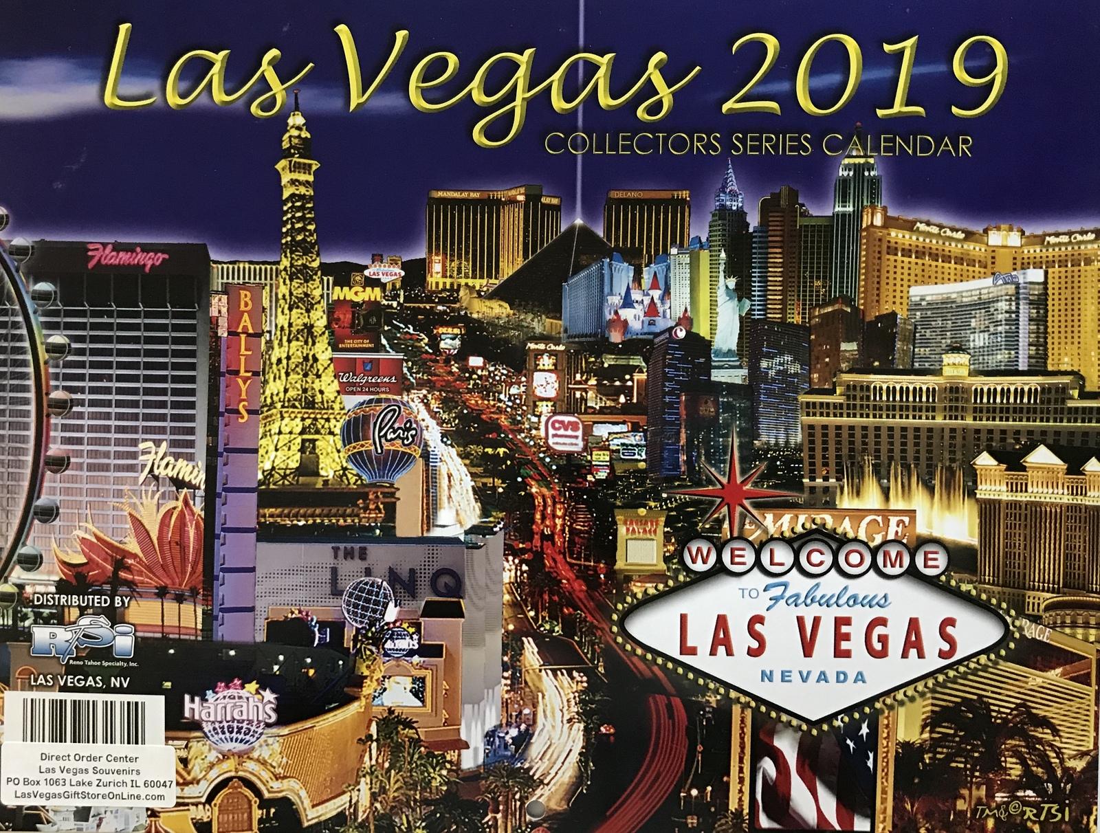 Las Vegas Calendar 2019 2019 13 Month Las Vegas Wall Calendar MGM and 11 similar items