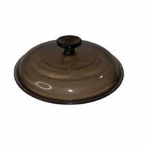 Corning Pyrex Visions Amber Glass Lid Replacement V-2.5-C Fi Ts 2.5 Quart - $9.89