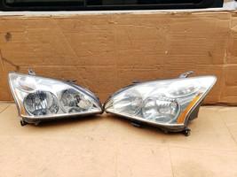 04-09 Lexus RX330 RX350 Halogen Headlight Lamps Set L&R POLISHED image 1