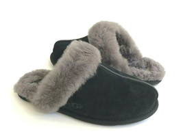 Ugg Scuffette Ii Black Grey Shearling Lined Slippers Us 8 / Eu 39 / Uk 6 - $88.83