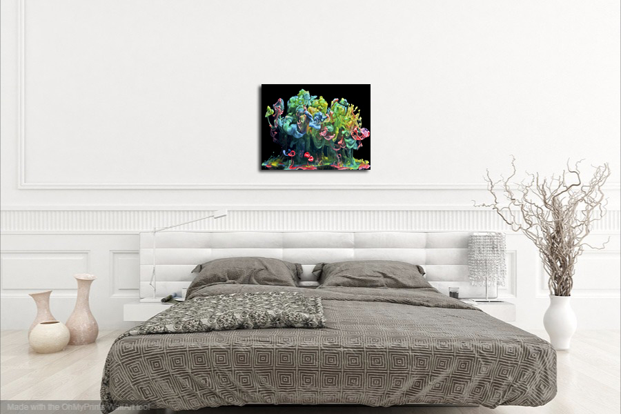 "Abstract Metal Print Wall Decor ""Color Eruption"""