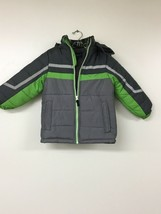 London Fog Kids Coat/ Winter Jacket Gray/Green Size L-7. New Without Tags - $29.02