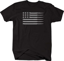 AR15 5.56 Rifle Bullets American Flag Gun Rights Military Mens T Shirt Men - $17.95+