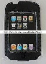 BELKIN CASE for IPOD TOUCH Black+White Stitching FORMED LEATHER Protecti... - $6.52