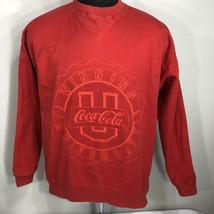 VTG Coke Sweatshirt Coca Cola Classic Crewneck 80s 90s University Large ... - $34.99