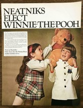 1968 Sears Perma-Prest Winnie-the-Pooh Collection Kids Clothes Print Ad ... - $11.69