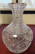 ABP Decanter Pressed Cut Glass 8″ Tall - $195.00