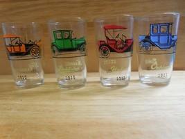 """Set of 4 Vintage Hazel Atlas 3 3/4"""" """" Antique Car""""  Swanky Swigs - - $19.79"""