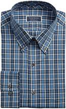 NWT Club Room Mens Size 17 34/35 Blue Plaid Dress Shirt - $21.73