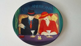 Sango Cafe Americana Oval Salad Luncheon Plate Retired Excellent Conditi... - $18.69