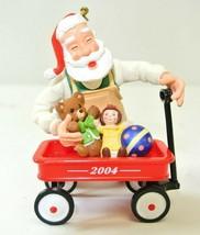 Hallmark 2004 Toymaker Santa #5 In Series Christmas Ornament QX8124 - $13.85