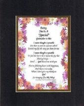 Personalized Poem for Godmothers - [Betty,] You Are a Special Godmother ... - $19.75