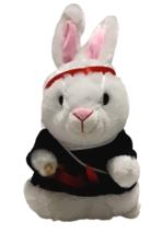 Gemmy Bunny Rabbit Kung Fu Fighting Singing Twirling Nunchucks Karate Mo... - $39.59