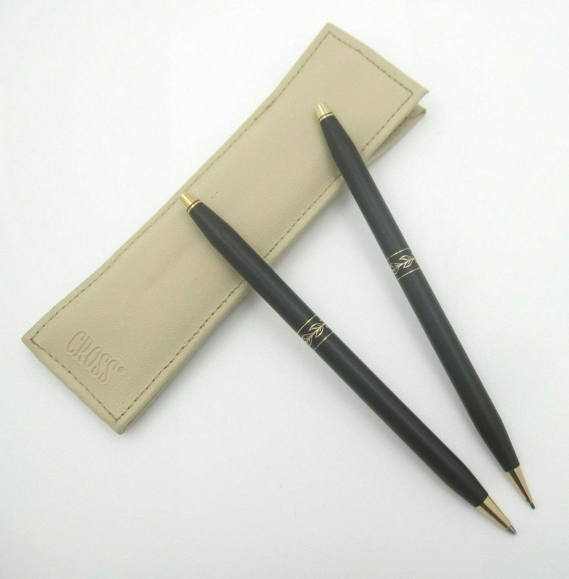 VTG Cross Ball Point Pen & Mechanical Pencil W/ Sleeve (Made in USA) Works