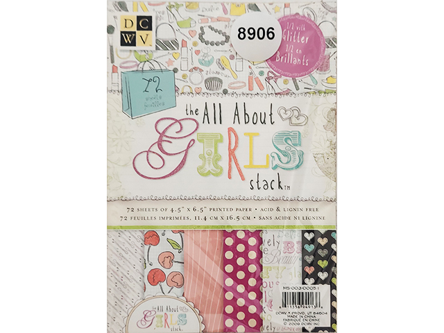 DCWV All About Girls Printed Cardstock, 72 Sheets #MS-003-00051