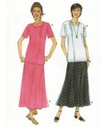Misses Career Office Work Pullover Top Flared Skirt Sew Pattern 6-24 - $9.99
