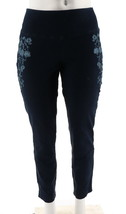 Women with Control Prime Stretch Denim Novelty Jeans Indigo XL NEW A301364 - $19.78