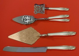 Stradivari by Wallace Sterling Silver Dessert Serving Set 4pc Custom Made - $299.00