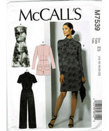 McCalls Pattern M7539 Misses'/Plus Dresses Jumpsuit Romper & Belt New Sz... - $8.91