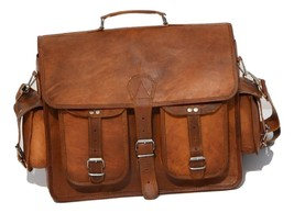 leather Vintage Men Messenger Handmade Laptop Genuine Briefcase Brown ba... - $70.40