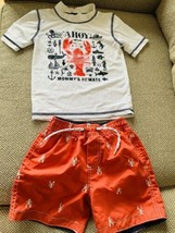 Carter's Toddler Boys Swim Shirt Rash Guard and swim trunks Sz 3T - $12.87