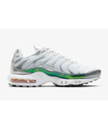 Nike Air Max Plus Tuned Trainers in White and Metallic Silver - $254.37