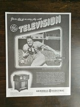 Vintage 1947 General Electric Television Football Full Page Original AD - $6.64