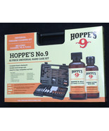 NEW HOPPES NO 9 FIREARM CLEANING KIT 62 PIECE, CLEANER, OIL, BLACK HARD ... - $79.08