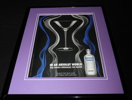2009 Absolut Vodka Framed 11x14 ORIGINAL Advertisement - $46.39