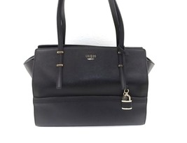 New GUESS Devyn Satchel Carryall Convertible Tote Handbag Bag Black Lock... - $78.35