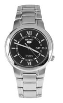 Seiko Automatic SNKA23 SNKA23K1 Mens Black Dial Day Date Stainless Steel... - $67.00
