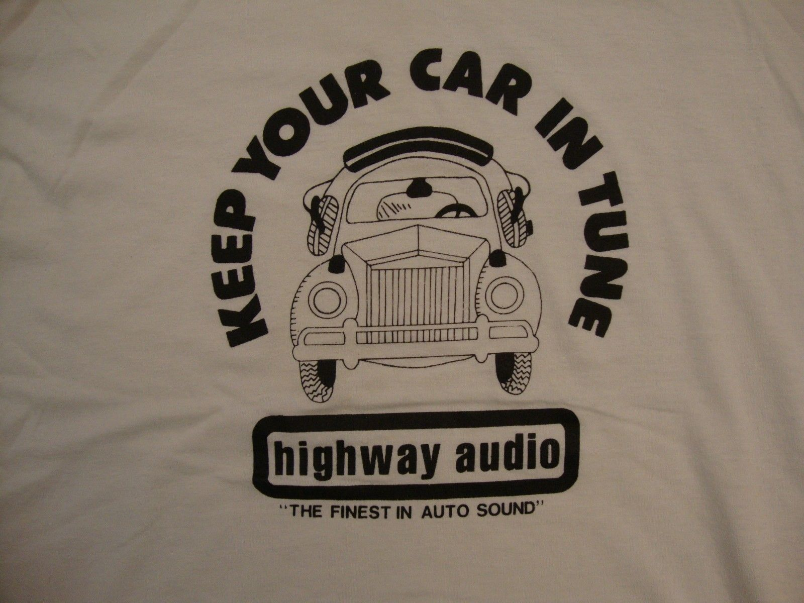 Primary image for Vintage Highway Audio Auto Sound Car Music Speakers Paper Thin T Shirt L