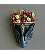 Wall Vase Decorative Artificial Flower Pot Peacock Ornament Hanging Resi... - $99.96+