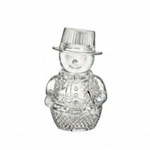 Waterford Crystal Snowman Sculpture Figurine New box only damaged # 4002... - $210.38